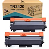 FITU WORK Cartouche de Toner Compatible pour Brother TN2420 TN2410 pour Brother MFC-L2710DW HL-L2350DW DCP-L2530DW MFC-L2710D
