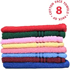 HomeGoods - Cotton Essential 100% Cotton Face Towel (Pack of 8 Pieces)
