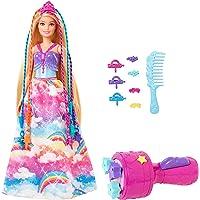 Barbie Dreamtopia poupée Princesse Tresses Magiques aux longs cheveux blonds avec extensions multicolores, peigne et…