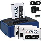 4X Akku + Dual-Ladegerät (Netz+Kfz+USB) für NP-BX1 / Sony Action Cam FDR-X1000V, X3000R / HDR-AS200V, AS100V, AS50, AS30…