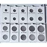 A TO Z CRAFTS Coin Holders - 10 Packets -250 PCS , Each Pack 25 PCS - Sizes 0 to 9