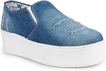 Krafter Women Denim Casual Shoes