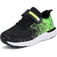 Kids Trainers Girls Lightweight Running Shoes Breathable Hook-Loop Sport Shoes Childrend Athletic Sneakers for School…