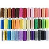 LIHAO Hilos de Coser de Poliéster Hilos de Colores Set (39 Colores)