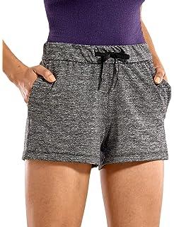 CRZ YOGA Femme Shorts de Sport Running avec Pochette Slip