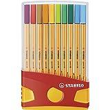 Fineliner - STABILO point 88 ColorParade med 20 Blandade färger
