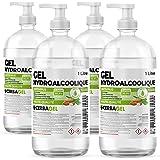 Pack de 4 bouteilles 1 litre Gel Hydroalcoolique