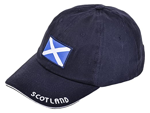 baseball cap embroidered flag and front side embroidery scotland rugby scottish union football