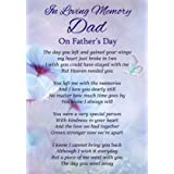 Dad Foliage Grave Card 121x184mm Clintons 1164240