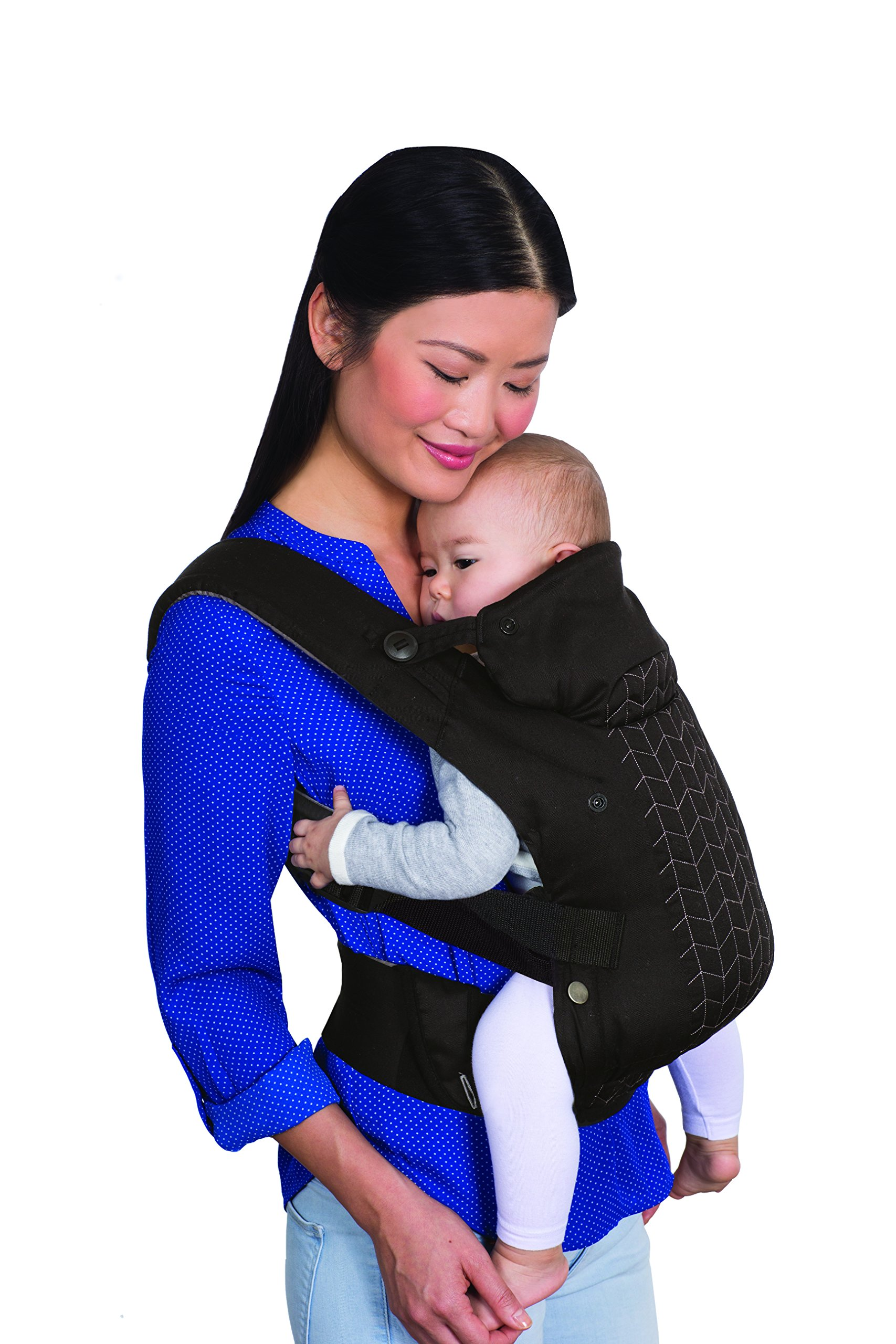 Infantino Upscale Carrier, Black, One Size Infantino Fully safety tested 4 way carrier Facing in newborn & m position 2