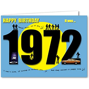 55th Birthday Card Souvenir of 1964 2019