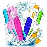 Abree Pistola ad acqua, confezione da 2 pistole ad acqua per bambini Adulti 600ml Potenti pistole ad acqua per Beach Summer G