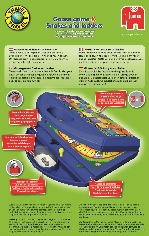 Jumbo-Spiele-12765-Travel-Gnse-Schlangen-und-Leiterspiel-farbig