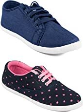Asian Shoes Women's Mesh Combo Of 2 Casual Shoes
