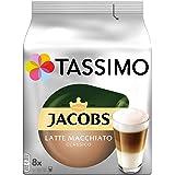 Tassimo Jacobs Type Latte Macchiato Classico, 5-pack koffiespecialiteit T-discs (5 x 8 dranken) Nieuw verpakkingsontwerp 5 x