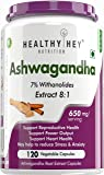 Healthyhey Nutrition Ashwagandha Root Extract 8:1 - 650 Mg -120 Capsules