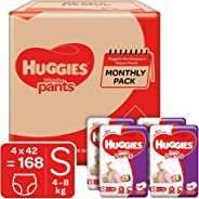 Huggies Wonder Pants Diapers Monthly Pack, Small (168 Count)