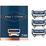 King C. Gillette Men's Neck Shaving Razor Blades, Pack of 3 Refills, with Skinguard and Gillette's Best and Sharpest Stainles