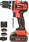 iBELL BM18-60 20V Brushless Impact Driver Drill (Cordless) with 2 Batteries, Charger, Case and Screw Driver Bit - 1 Year…