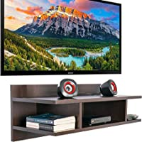 Furniture Cafe Wooden TV Cabinet Wall Shelves, Smart LED TV Entertainment Unit Set Top Box Stand | TV Stand Wall Shelf…