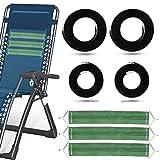 tEEZErshop Elastiek met 3-delige verstevigingsband voor relax-ligstoel, ligstoel, tuinligstoel, strandstoel, set van 4 touwen