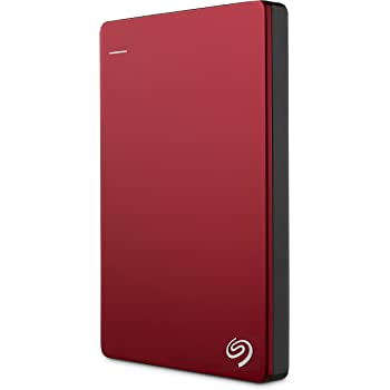Seagate Backup Plus Slim Disque dur externe portable 2,5'' USB 3.0 / USB2.0 2 To Rouge