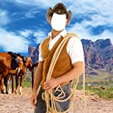 Montaje de la foto del vaquero