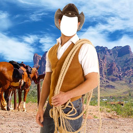 Cowboy-Foto-Montage (Pferd Kostüm Mensch Und)