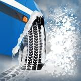 pneumatici da neve d'inverno gara di agilità: l'auto trazione ghiaccio artico strada - edizione gratuita