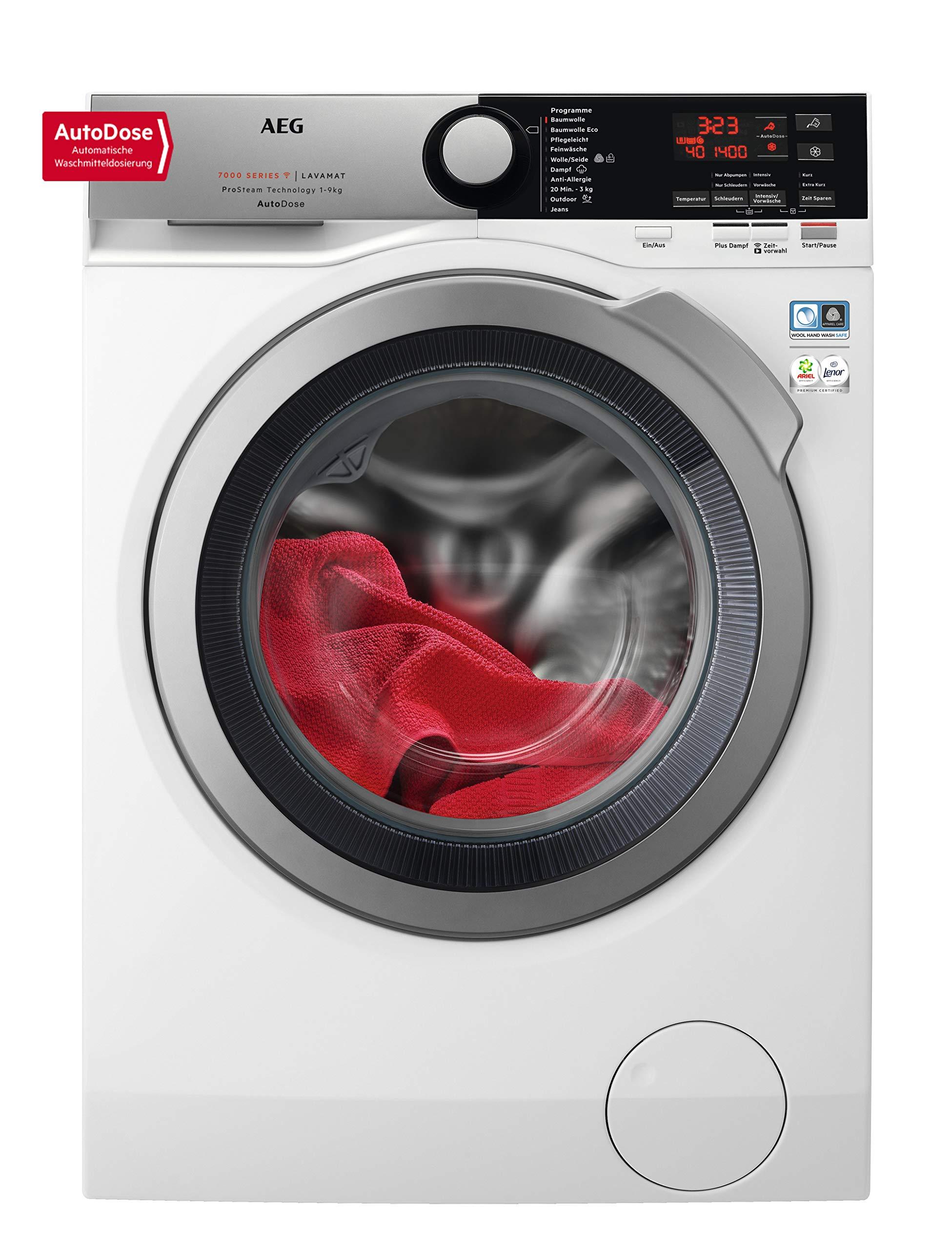 AEG L7FE78695 Waschmaschine mit AutoDose, ProSteam, 9 kg Füllmenge