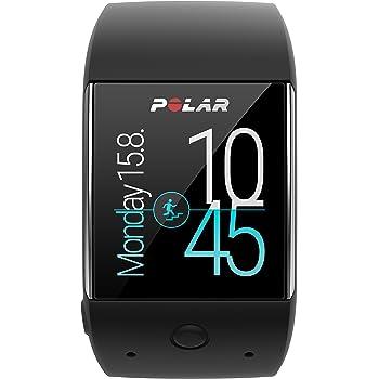 Polar M600 Smartwatch Orologio GPS con Cardiofrequenzimetro Incluso, Monitoraggio Attività Fisica e Funzioni Smart Coaching, Nero