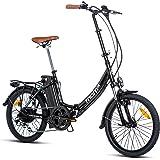 Moma Bikes Bicicleta Electrica Plegable Urbana EBIKE-20.2, Aluminio, SHIMANO 7V, Batería Litio 36V 16Ah