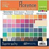 Vaessen creative 1214-61 Florence Papier Cartonné, 30x2 Couleurs, 216g, 30,5 x 30,5 cm, 60 Feuilles, Surface Texturée, pour P