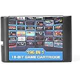 Dodoing pour Sega Mega Drive MD Genesis 196en 1Multi cartouche de jeu rétro classique Cadeau 10.8 * 6.8cm 196 in 1 Game Car