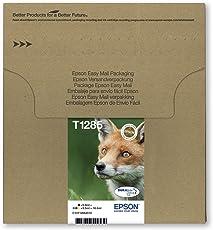 Epson Original T1285 Tinte Fuchs, wisch- und wasserfeste (Multipack, 4-farbig) (CYMK)