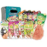7th Heaven Pamper Hamper Gift Set - Includes a Variety of Peel-Off and Mud Face Masks, Coconut Hair Rescue Masque, Soft…