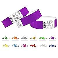 Bracelets d'identification Tyvek 19 mm, 1000 pièces, Bracelets événementiels (Violet, 1000 Pack)