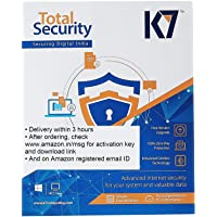 K7 Total Security Latest Version - 3 PC's, 1 Year (Email Delivery in 2 hours - No CD)