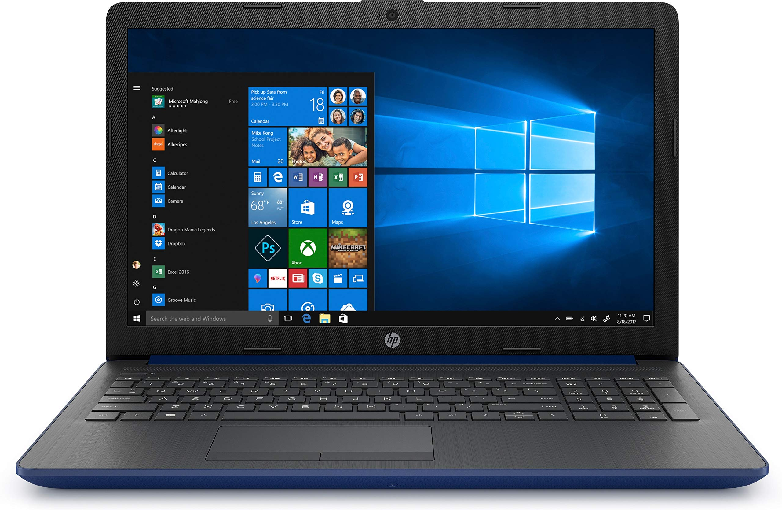 HP – Ordenador portátil de 15.6″ HD Intel Core
