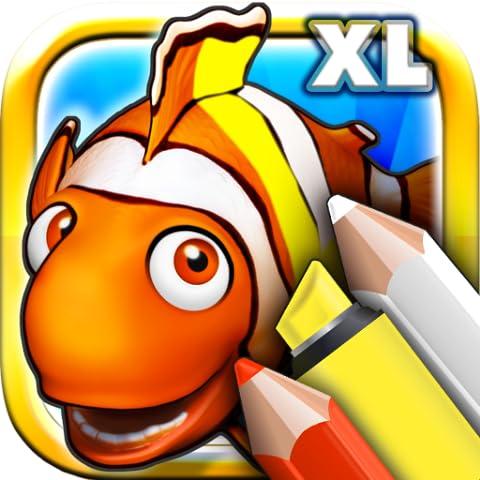 Colorare i libri per i più piccoli Deluxe - Colorize animali dell'oceano e pesci con le matite colorate e pennarelli