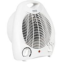 Teesa Heizlüfter TSA8025 3 Funktionsmodi, 2 Heizstufen (1000 W, 2000 W), Einstellbarer Thermostat, Überhitzungsschutz…