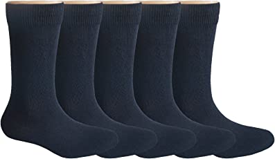 School Cotton Socks | Uniform Kids Sweat Absorbent Odour Free and Durable for Multiple Washes Socks | 5 Pair Pack by Footmate Socks
