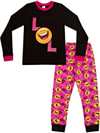Lol Smiley Face Emoji Laugh Out Loud – largo de la niña PJ pijama 9 A