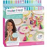 Make It Real-Las Cadenas y los encantos Neo-Brite.Cadena de Oro de Bricolaje Pulsera del Encanto Que Hace el Kit para Las niñ