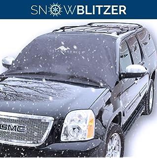 Eiskratzer ✓Motiv Eisb/är ✓ Auto KFZ Frontscheibenabdeckung Windschutzscheibe Winter Winterschutz Frontscheibe Scheibenabdeckung Frostschutzfolie inkl