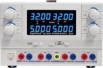 PeakTech Digtial Doppel Labornetzteil - Labornetzgerät 0-30V / 0-5A DC, stabilisiert, linear regelbar, 1 Stück, P 6210