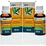 100% Reines Australisches Teebaumöl 60 ml (2x 30 ml) zur Haut-Pflege Reinigung, gegen Pickel, Schuppen und Mitesser