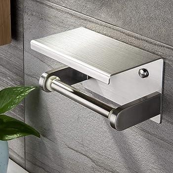 tomika toilettenpapierhalter ohne bohren aluminium. Black Bedroom Furniture Sets. Home Design Ideas