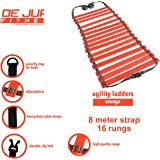 De Jure Fitness Polypropylene Adjustable Speed Ladder (Orange)