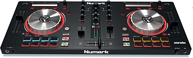 Numark MixTrack Pro III 2 Deck DJ Controller mit Audio I/O, Pads und Multifunktionaler Touchstrip + Serato DJ Intro & Prime Loop Remix Tool Kit